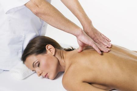 женщина, массаж