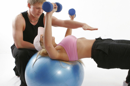 женщина и мужчина, фитнес