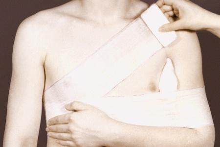 бинтование плеча
