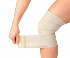 Инструкция, как правильно бинтовать колено эластичным бинтом