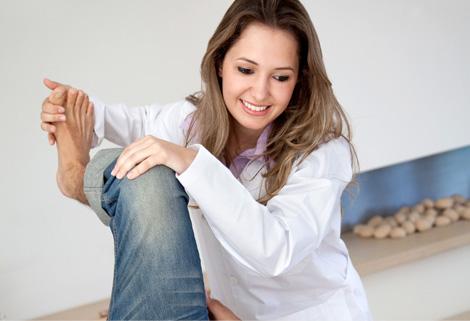 Кварцевание коленного сустава