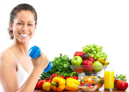 женщина, фрукты